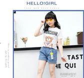 女童牛仔短褲外穿薄款中大童新款夏裝潮韓版熱褲兒童短褲  凱斯盾數位3c