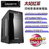【南紡購物中心】技嘉平台【太妃紅茶】(R3-4350G/256G SSD/16G D4/500W)