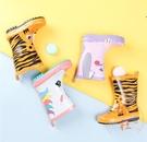 可愛時尚寶寶雨靴塑膠防滑防水雨鞋【橘社小鎮】