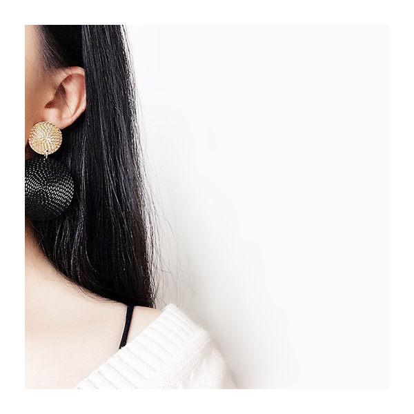 耳環 簡約 雙色 圓片 幾何 甜美 百搭 耳環【DD1710215】 icoca  11/30