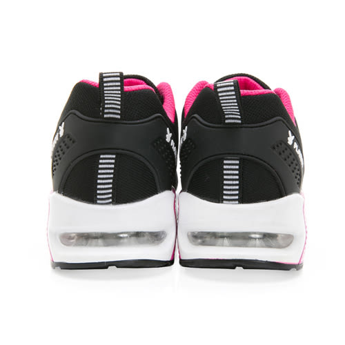 PLAYBOY簡約生活 針織綁帶氣墊休閒鞋-黑桃