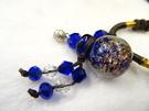 【Ruby工作坊】NO.32B藍精油瓶中國結項鍊