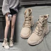 新品馬丁靴女英倫風學生雪地百搭ins女靴春季網紅短靴子冬鞋