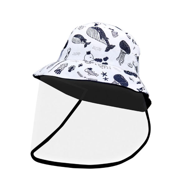 OGG 兒童可拆式負離子防疫帽(大海趣/藍恐龍)