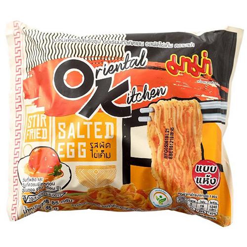 媽媽鹹蛋黃風味炒麵85G x4【愛買】