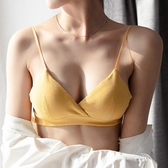 快速出貨 內衣女無鋼圈薄款學生美背文胸吊帶法式小胸內衣