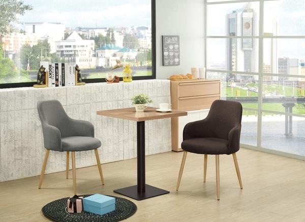 【森可家居】韋伯2尺木面四方餐桌 10ZX682-3 商用桌 咖啡廳 餐廳 木紋質感 黑鐵桌腳 MIT台灣製造