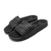 adidas 拖鞋 Adilette Boost 黑 全黑 男鞋 女鞋 緩震中底 舒適好穿 基本款 【ACS】 EH2256