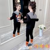 女童套裝秋裝童裝女孩衛衣運動裝兒童兩件套【淘嘟嘟】
