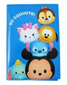 【卡漫城】 Tsum 護照套 藍 ㊣版 港版 多功能 萬用 證件套 卡片套 收納本 史迪奇 大眼仔 瑪莉貓