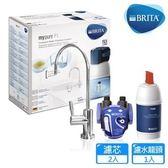德國 BRITA mypure P1 硬水軟化櫥下型濾水系統 + P1000 濾芯(共2芯) 含標準安裝