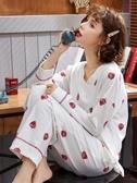 睡衣女春秋純棉長袖薄款秋冬韓版學生閨蜜可愛全棉家居服套裝新品