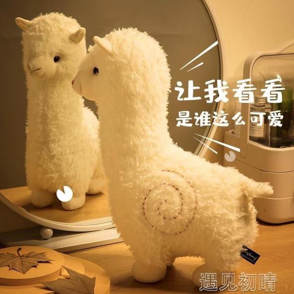 抱枕 草泥馬羊駝公仔毛絨玩具可愛小羊抱枕娃娃玩偶六一兒童節禮物女 遇見初晴