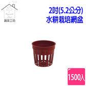 2吋(5.2公分)水耕栽培網盆(水草栽培盆)1500個/組(磚紅色)