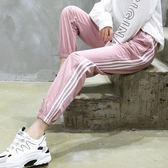 運動褲女春秋新款學生寬鬆束腳顯瘦韓版ins潮純棉夏薄款休閒 韓國時尚週