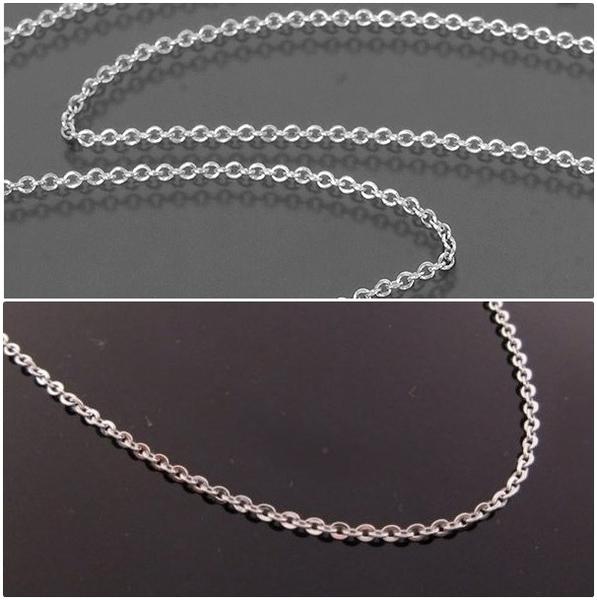 316L醫療鋼項鍊 1.6mm基本O型立體圓鏈純鏈子-銀 防抗過敏 不退色