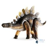 電動玩具 恐龍玩具電動劍龍仿真動物模型會走路的兒童玩具套裝 2色