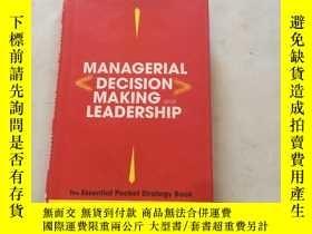 二手書博民逛書店MANAGERIAL罕見DECISION MAKING AND LEADERSHIP管理決策和領導Y25607