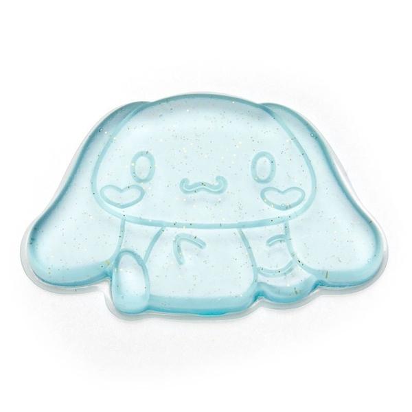 〔小禮堂〕大耳狗 造型透明矽膠粉撲《藍.亮粉》silicone puff 4901610-33465