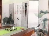屏風隔斷客廳中式小戶型雙面牆摺疊行動推拉簡約現代2扇布藝摺屏igo 向日葵
