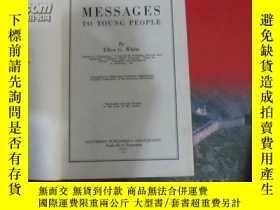 二手書博民逛書店1930年出版《messages罕見to young peopl