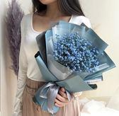 漫島 藍色滿天星花束干花送男生情侶節日生日禮物鮮花速遞【小梨雜貨鋪】