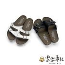 【樂樂童鞋】【台灣製現貨】MIT雙帶親子拖鞋 C034 - 現貨 台灣製 拖鞋 女鞋 沙灘鞋 大童鞋 親子鞋