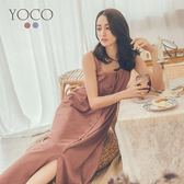 東京著衣【YOCO】南法旅行莫蘭迪色系寬版吊帶洋裝-S.M.L(181410)
