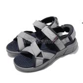 Skechers 涼鞋 Equalizer 4.0 Sandal 灰 深藍 綁帶 男鞋 涼拖鞋 【PUMP306】 237050NVCC