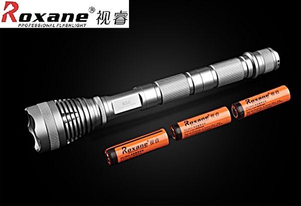 Roxane美國Cree強光手電筒XML-T6可延長爆亮K66,IPx-6防水手電筒戰術手電筒防爆手電筒強光LED手電筒
