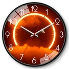 客廳時鐘 現代客廳掛表美式輕奢科技設計感時鐘表簡美創意靜音壁掛鐘【快速出貨八折搶購】