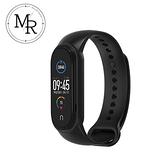 MR 小米手環5單色運動防水矽膠替換錶帶(黑)