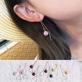 耳環 簡約 三角型 金屬 設計 耳環【DD1703138】 BOBI  05/11