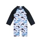 男童泳裝 海豚連身防曬泳衣 88733