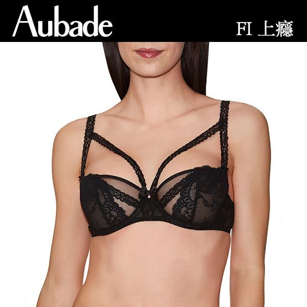 Aubade-上癮B-C蕾絲薄襯內衣(黑)FI