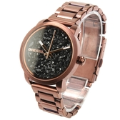 DIESEL Flare搖滾寶石咖啡金不鏽鋼女腕錶37mm(DZ5560)270007