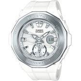 CASIO卡西歐 Baby-G 海灘優雅雙顯手錶-白 BGA-220-7ADR / BGA-220-7A