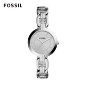 FOSSIL Kerrigan 優雅銀色鎖鍊錶 32mm 女 BQ3205