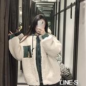 韓版棒球飛行員棉服羊羔毛外套女冬