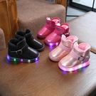 兒童靴子 兒童雪地靴2021新款童靴1-3歲2男童棉靴子寶寶冬季女童短靴冬鞋子【快速出貨八折下殺】