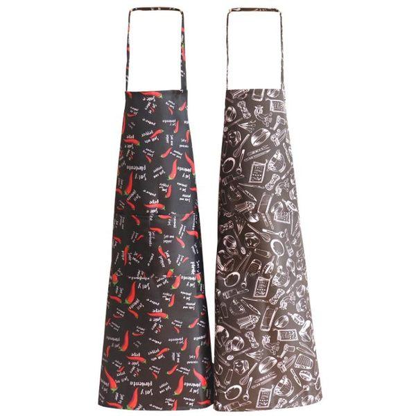 圍裙 防油防污防水廚房餐廳洗菜店圍裙成工作牛仔圍裙 KB3702【野之旅】