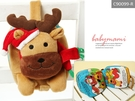 貝比幸福小舖【90099-R】 聖誕麋鹿玩偶*床邊故事書-