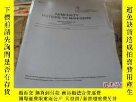二手書博民逛書店admiralty罕見notices to mariners 英