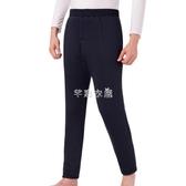 保暖褲 冬季中年保暖棉褲男加絨加厚高腰寬鬆中老年人加肥加大駝絨棉褲男 快速出貨