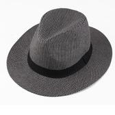 草帽 中老年人帽子男夏季防曬草帽大帽檐老人禮帽60周歲以上遮陽太陽帽