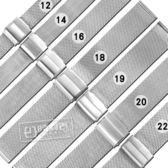 Watchband / 12.14.16.18.19.20.22mm /  DW替用 各品牌通用透亮米蘭編織不鏽鋼錶帶 銀色