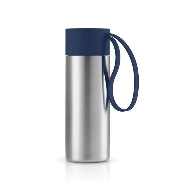 丹麥 Eva Solo To Go Cup 350ml 樂活 不鏽鋼 隨身保溫瓶(藏青藍)