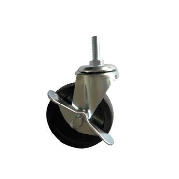 波浪架剎車輪 2入 適用1 鐵管 鍍鉻層架