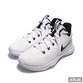NIKE 男籃球鞋 LEBRON WITNESS V EP XDR底 避震 氣墊 高筒 白黑-CQ9381101