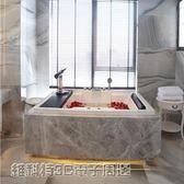 浴缸1.7米/1.85米雙人浴缸按摩沖浪嵌入式亞克力情侶恒溫加熱豪華浴缸MKS 維科特3C